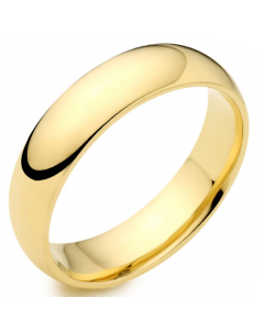 9ct Yellow Gold 6mm Medium Court Wedding Ring By Charles Green