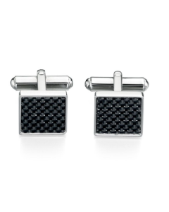 Fred Bennett Stainless Steel Black Cufflinks