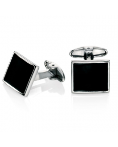 Fred Bennett Black enamel Cufflinks
