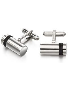 Fred Bennett Stainless Steel Cylinder Barrel Cufflinks
