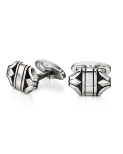 Fred Bennett Orinate Textured Stainless Steel Cufflinks