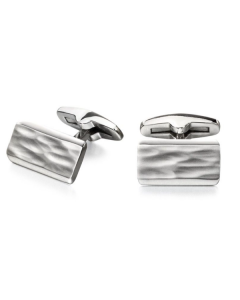 Fred Bennett Bevelled Rectangular Stainless Steel Cufflinks
