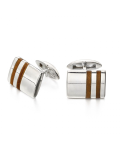 Fred Bennett Tigers Eye and Sterling Silver Cufflinks product images