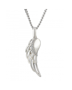 Amore Sterling Silver & Cubic Zirconia 'Angelica' Pendant