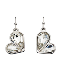 Fiorelli Crystal Heart Drop Earrings
