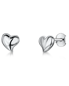 Jools Sterling Silver Hypoallergenic Heart Stud Earrings