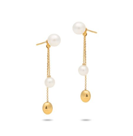 Chimento 18ct Gold Armillas Acqua Pearl Earrings