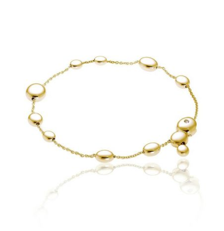 Chimento Armillas Acqua 18ct Yellow Gold Diamond Bracelet