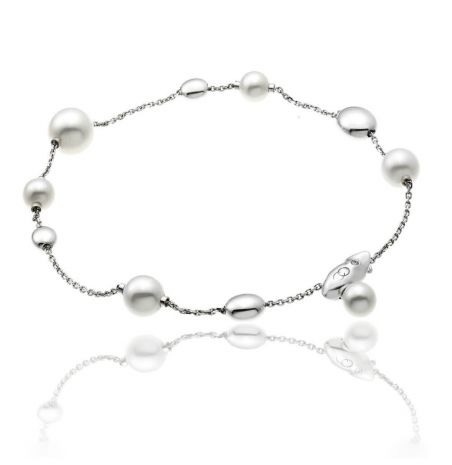 Chimento Armillas Acqua 18ct White Gold Pearl Bracelet