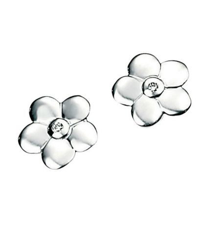 D for Diamond Diamond Flower Earrings product image