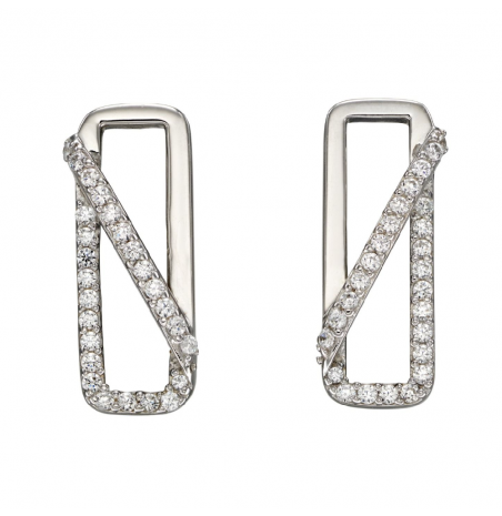 Fiorelli Silver Rectangle Stud Earrings