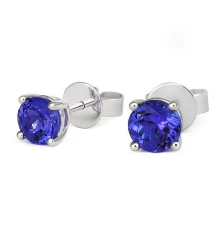 18ct white gold and Tanzanite stud Earrings by Tivon