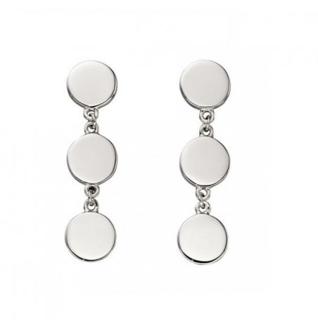 Fiorelli Silver Circle Drop Earrings