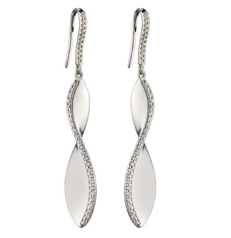 Fiorelli Silver Twist Drop Earrings