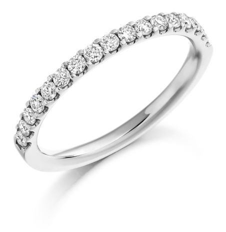 Gemex Platinum 0.33ct Diamond Shared Claw Ring