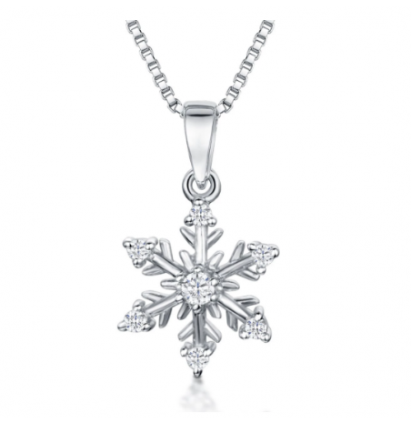 Jools By Jenny Brown Small Snowflake Necklace