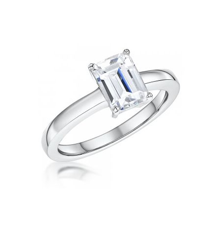 Jools by Jenny Brown Emerald Cut Cubic Zirconia Ring