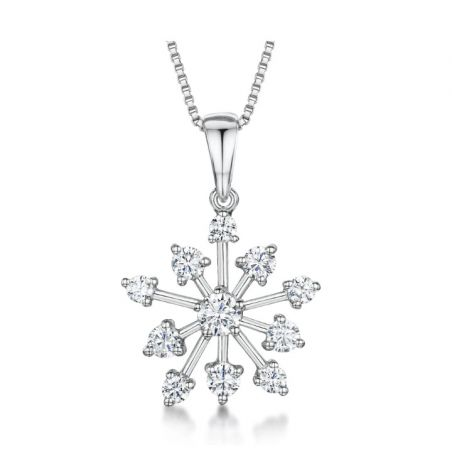 Jools By Jenny Brown Snowflake Necklace