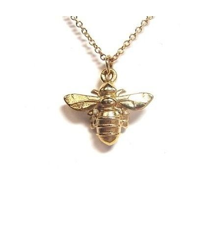 Lydia's Bees Large Honey Bee Pendant – Solid 9ct Yellow Gold