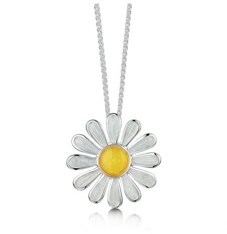 Sheila Fleet Daisies At Dawn Necklace Large
