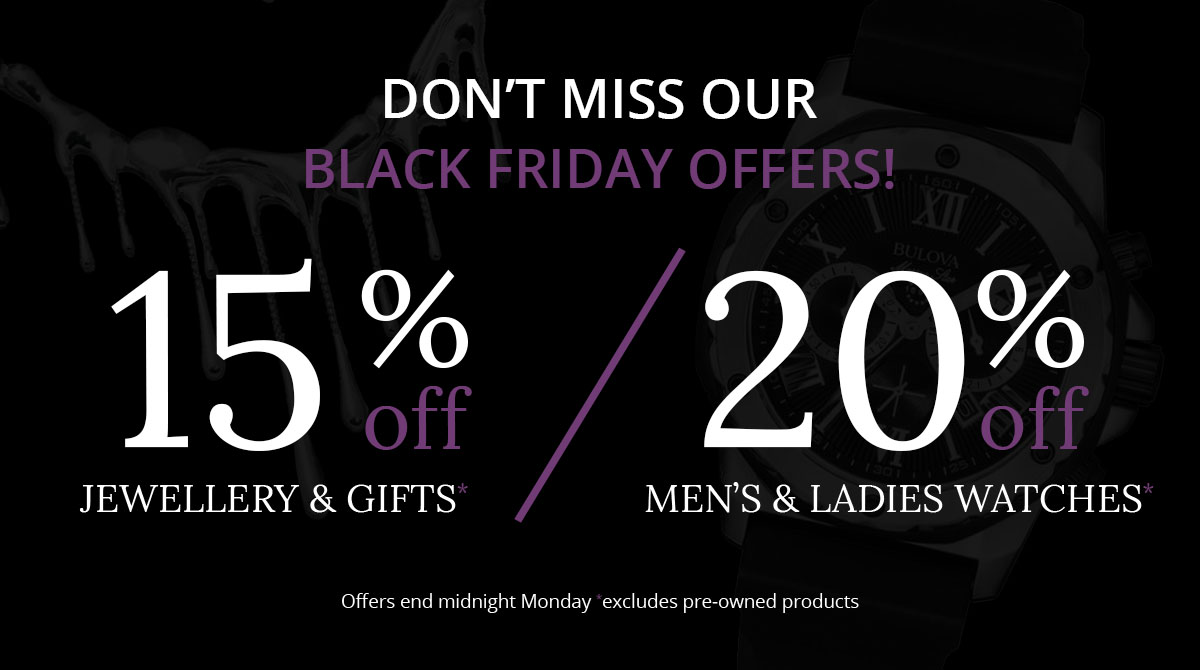 Black Friday 2020 at Nettletons Jewellers